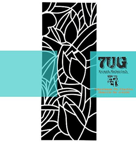 7UG Designer Schablone Jugendstil für Mixed Media Kunst und Textildruck