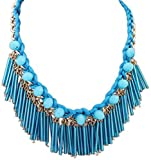 Jewel Touch Boutique Blue Tassel Decorat...