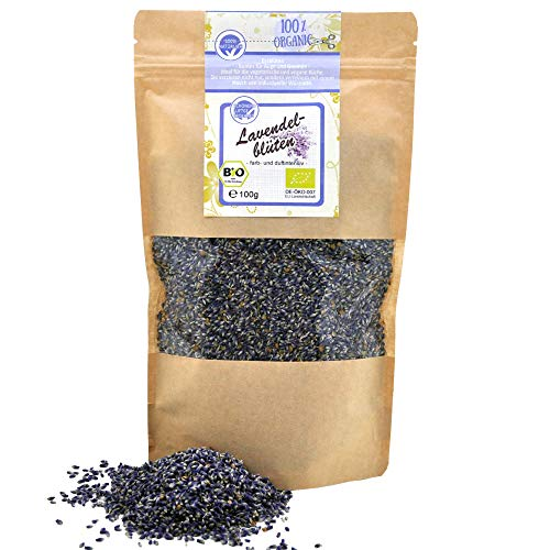 direct&friendly Bio Lavendelblüten la blau echter Lavendel Essblüten (100 g) -