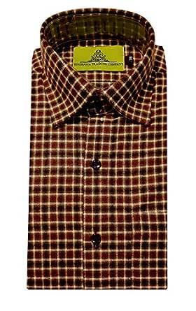 STC Men's Wool Slim Fit Formal Shirt (STC-0123_38 _Multicolor_ 38)