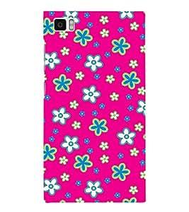 FIOBS Pinky Flowers Designer Back Case Cover for Xiaomi Mi3 :: Xiaomi Mi 3