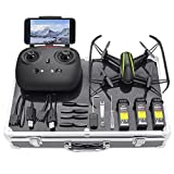 Drone with Carrying Case, Potensic U36W Wireless RC Quadcopter Drone with 120 Degree