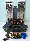 Generic qy-uk4–16feb-20–2211* * * 4161* * 1anelli capelli + Ishing Tackle box + Carp FI attrattori per attrezzatura da pesca della carpa caricato metodo alimentatori alimentatori di mais + + + metodo alimentatori
