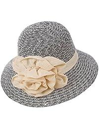 Bohemia Verano Sun Floppy Mujer Sombrero de la Playa de la Paja del Borde  Grande Ancho 21f3f41b2bc