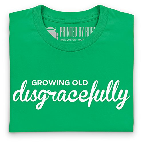 Growing Old Disgracefully T-Shirt, Herren Keltisch-Grn