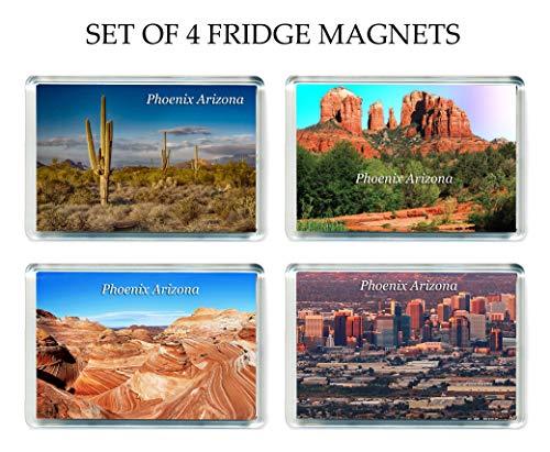 GCT US012 Set of 4 Phoenix, Arizona Jumbo Kühlschrankmagnet USA America United States Travel Fridge Magnets (Phoenix United)