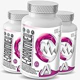 L-Carnitin + Arginin | 3 x 100 (300) Kapseln á 500mg | Zur Unterstützung der Gewichtsreduktion & Fettverbrennung im Rahmen der Diät | Pre-Workout + Fatburner | Für Männer und Frauen