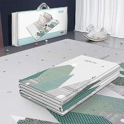Alfombra de juegos para bebéPlegable, antideslizante, reversible, impermeable, de doble cara 200 x 180 cm