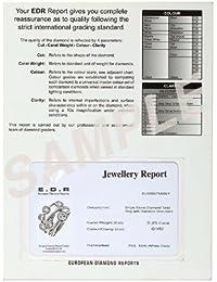 23CT certificado g/VS2 Brilliant redondo corte de diamante pulsera de tenis juego de Claw en 18 K blanco
