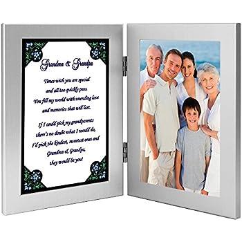 Grands Parents Cadeau Papi Et Mamie Poème En Cadre Photo