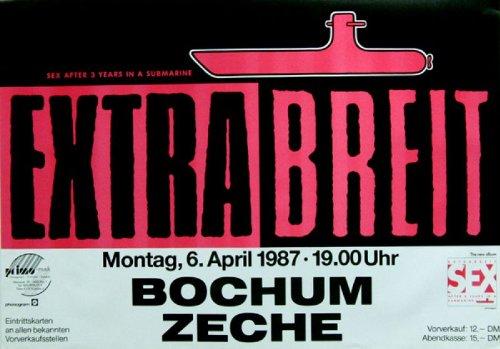 EXTRABREIT - 1987 - Konzertplakat - Sex after 3 Years - Tourposter - Concert (Shirt Böse Neue)