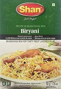 Shan Spice Receipe & Seasoning Mix for Biryani Masala, 50g