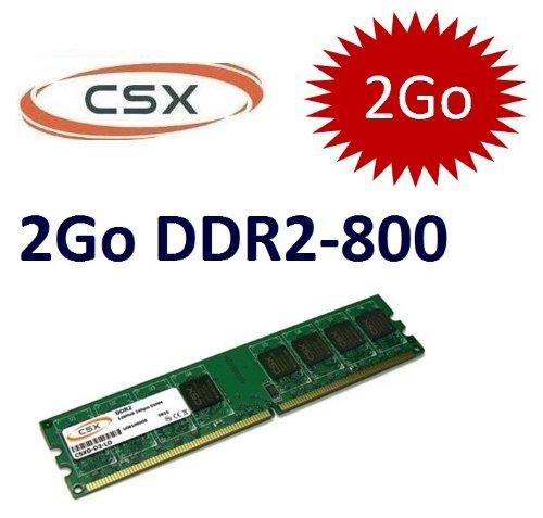 CSX Speicher: 2 GB 240 pin DDR Speicher PC 2-800 (800Mhz (2-6400, DIMM, CL6) für DDR2 ordinateures)