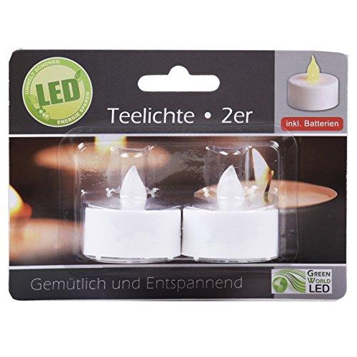 Juego de velas de té LED con pilas de repuesto 94