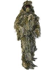 """Tarnanzug """"Ghillie Suit"""" (Jacke, Hose, Kopfbedeckung und Gewehrabdeckung)"""