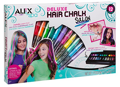 Alex Toys Spa Deluxe Hair Chalk Salon Craft Kit, Multi Color