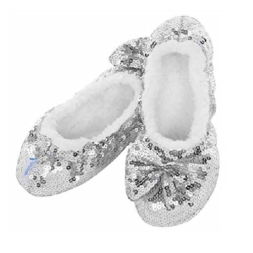 Snoozies, Pantofole donna Argento (argento)