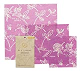 Bee's Wrap Set of 3 Assorted Size Wraps, Purple