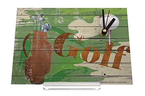 orologio dello scrittorio Sport Golf Ball Racket Bag Decorativa