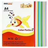 #1: PIGLOO A4 Colour Paper for Greeting Cards & Art N Craft, 100 Sheets, 10 Colour, 160 GSM