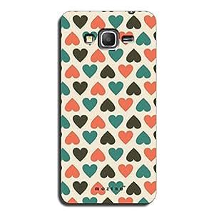 Mozine Blue Love Pattern printed mobile back cover for Samsung grand prime
