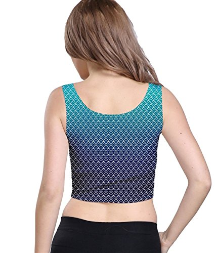 CowCow - Canotta -  donna Turquoise Gradient