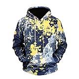 WEII Mode 3D Kapuzenpullover Mode Paar Modelle Printed Langarm-Hoodie Sport und Freizeit Pullover Mantel -