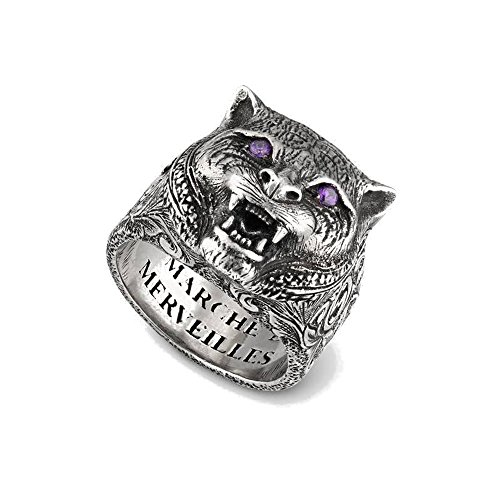 Gucci Garden Feline Head Ring 6 3/4 (US) -n (UK) ybc524585001014