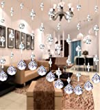LIQICAI Wulstvorhang Dekorieren Sie Das Wohnzimmer, Hotel-Lobbys Kristall Hochzeit Party Shopwindow DIY Perle Stränge Kronleuchter- 4 Farben erhältlich (Farbe : #2, Größe : Wide 80cm)