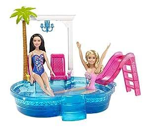 Barbie Glam Pool con Accessori, Multicolore, DGW22