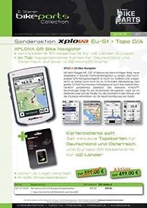 Navigationsgerät Xplova G 5.EU ST+D/AT Europa-Straßenkarten+Topo D/AT Set