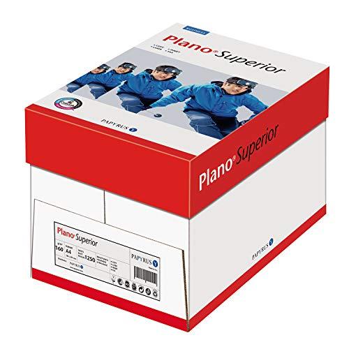 Papyrus 88026787 Drucker-/Kopierpapier Premium Planosuperior 160 g/qm, DIN A4, 1.250 Blatt/5 Ries = 1 Karton, Matt, holzfrei, hochweiß, Ungestrichen (Drucker Papier Ries)