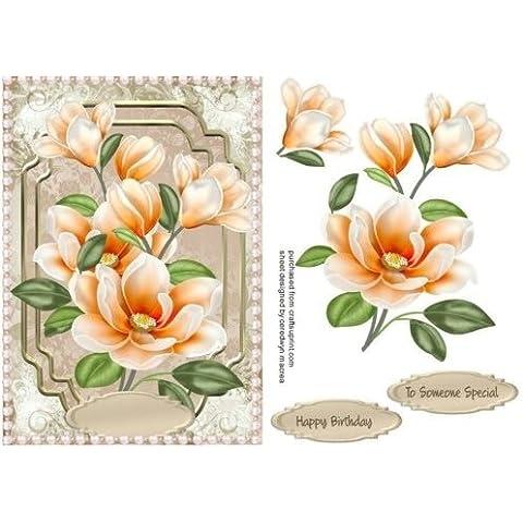 Hermoso pavo real magnolias con perlas, Por Macrae Ceredwyn