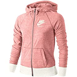 Nike G Nsw Vntg Hoodie Fz Sudadera, Niñas, Rosa (Bright Melon / Sail / Sail), L