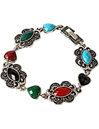 IGP Graceful Multi Color Stone Studded Charm Bracelet For Women And Girls