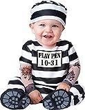 De Luxe Bébé Garçons Filles Temps Out Prisonnier En Character Halloween Déguisement Costume Tenue - Noir/Blanc, 0-6 Mois
