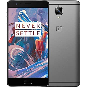 Oneplus 3 Smartphone, 6GB RAM, 64GB ROM Qualcomm Snapdragon 820 2.2GHz Quad Core 5.5 Inch 2.5D AMOLED Corning Gorilla Glass 4 FHD Screen Android 6.0, 4G LTE, Grey
