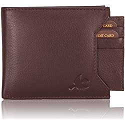 Hornbull Men's Brown Rigohill Leather Wallet