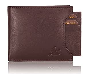 Hornbull Men's Brown Rigohill Leather Wallet