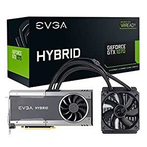 EVGA GeForce GTX 1070 FTW HYBRID GAMING/8GB GDDR5/RGB LED/All-In-One Watercooling with 10CM Ventilateur/10 Power Phases/Double BIOS/DX12 OSD Supporté (PXOC) Carte Graphique 08G-P4-6278-KR