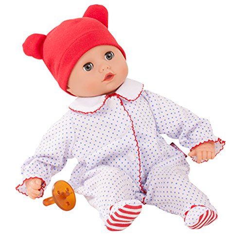 Götz 1820529 Muffin Boy - Junge Puppe - 33 cm große Babypuppe mit blauen Schlafaugen und ohne Haare - 4-teiliges Set - Weichkörperpuppe ab 18 Monaten -