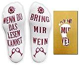 Witzige Wein Socken