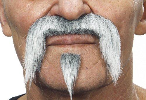 Mustaches Grauer Zappa mit weißr fälschen, selbstklebend Schnurrbart