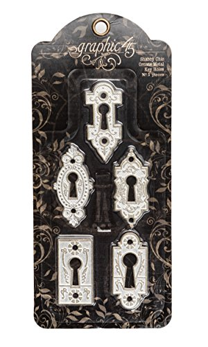 graphic-45-staples-set-shabby-chic-ornate-agujeros-de-metal-key