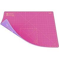 ANSIO A2 Doble cara Autocuración 5 capas de corte Mat Imperial/métrica 22.5 pulgadas x 17 pulgadas / 59 cm x 44 cm - Super rosa/lavanda púrpura