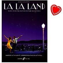 La La Land - Soundtrack aus dem neuen Oscar Bester Film 2017 - für Klavier, Gesang und Gitarre - Notenbuch mit bunter herzförmiger Notenklammer