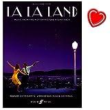 La La Land - Soundtrack aus dem neuen Oscar Bester Film 2017 - für Klavier, Gesang und Gitarre - Notenbuch mit bunter herzförmiger Notenklammer -