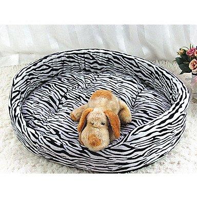 SAN-Pet Cat / Pet Dog Bed & Pads Tapis Motif Tigre blanc en tissu doux / Brown , m