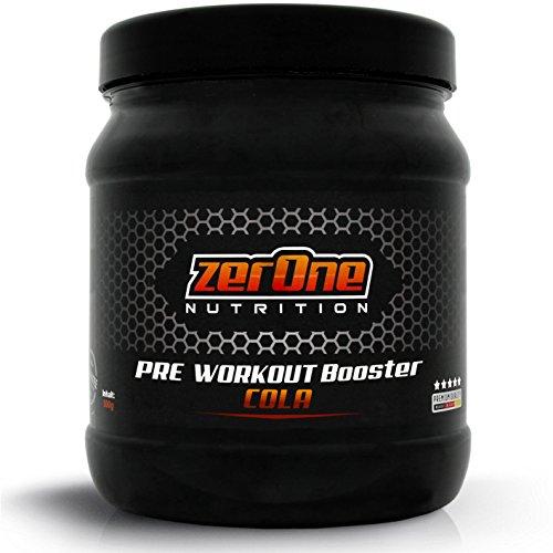ZerOne Pre Workout Booster Fitness | Maximaler Pump Fokus | Leucin | Isoleucin | Valin 2:1:1 | Energie Kraft Ausdauer | L-Citrulline Maca | Koffein Guarana | Taurin | Cola 500g -