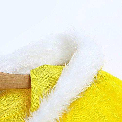 Baby Kapuzenpulli Honestyi Kinder Kinder Weihnachten Kostüm Santa Hooded Cosplay Cape Robe für Junge Mädchen (Gelb,)
